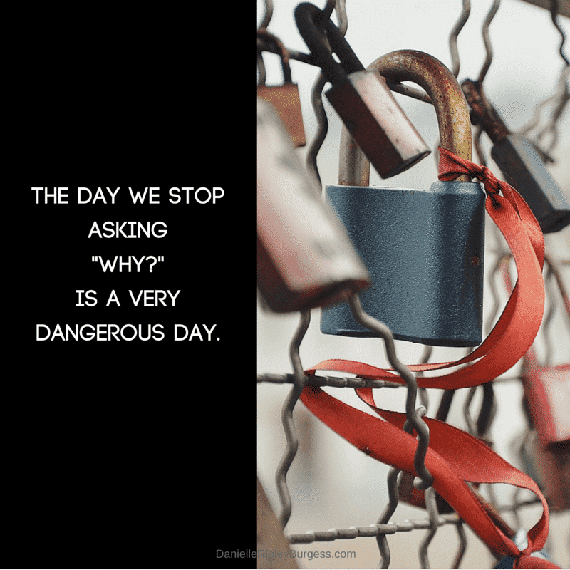 The day we stop asking why