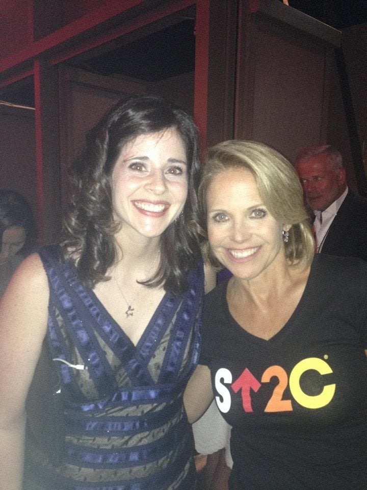 danielle-meeting-katie-couric-su2c-colon-cancer-survivor