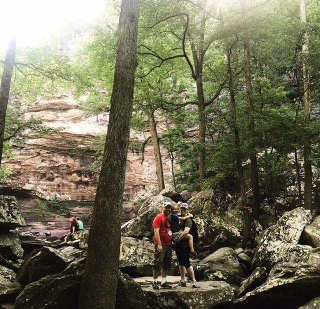 burgess-family-petit-jean-waterfall